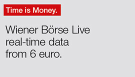 Time is money. Wiener Börse Live real-time data from 6 euro.